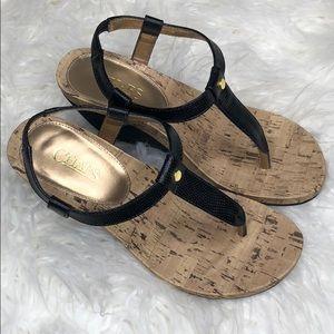 Ralph Lauren chaos RAEVYN wedge sandals 8 1/2